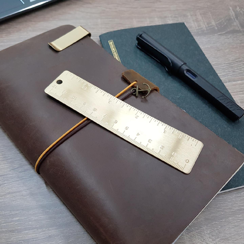 12cm Brass Ruler