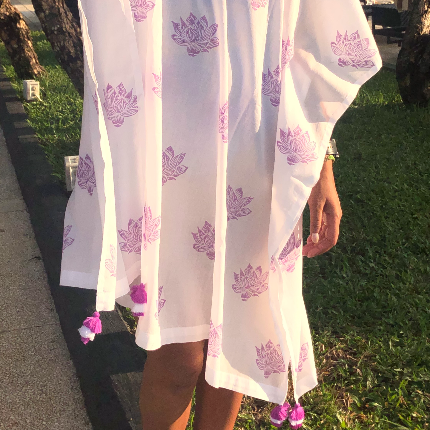 Purple Lotus Kaftan