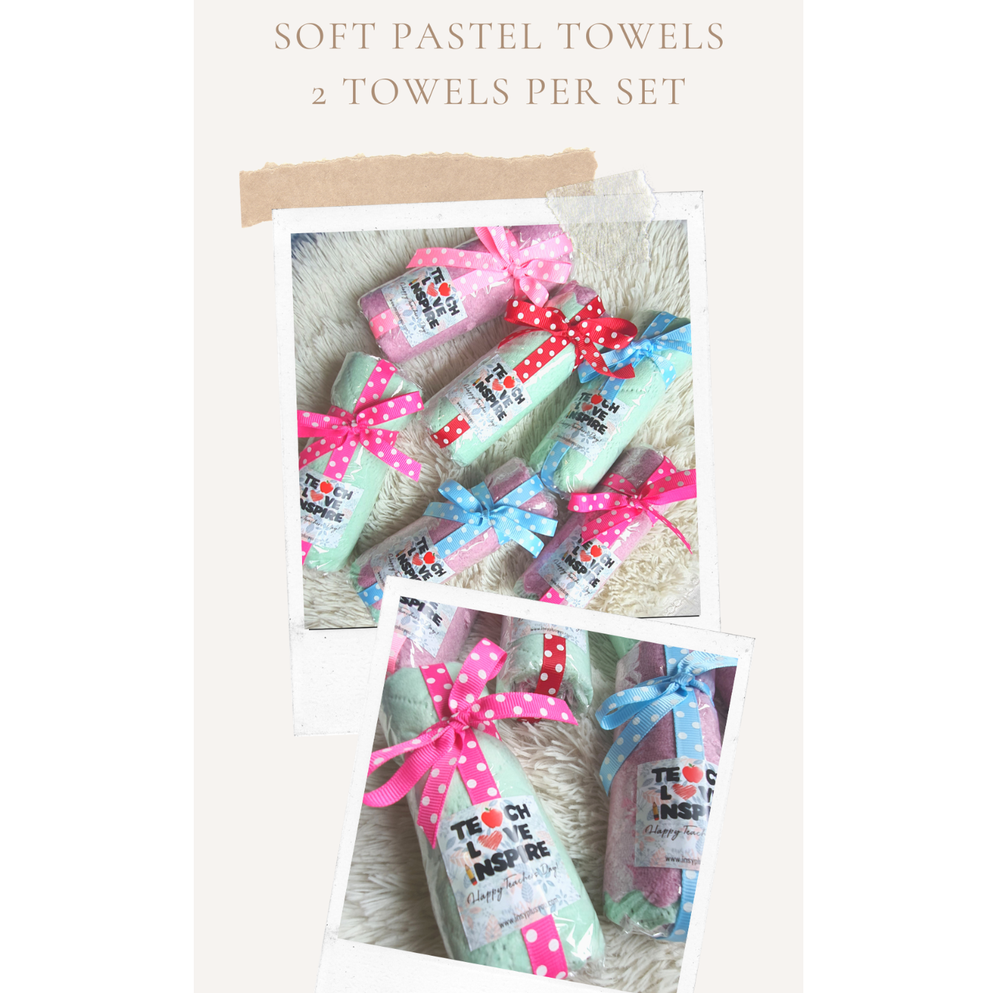 Soft Pastel Towels