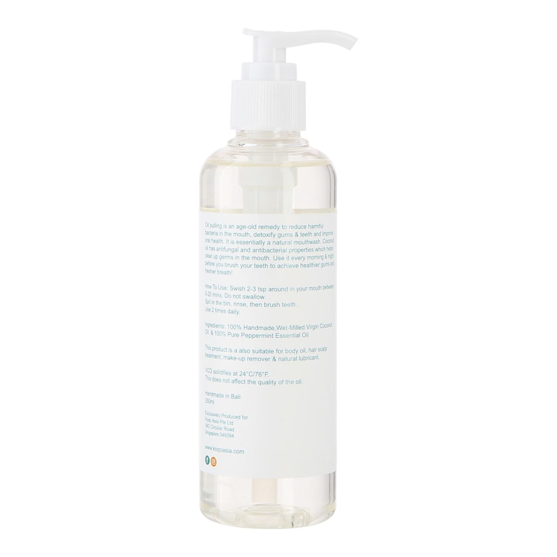 koqo Natural Mouthwash - Peppermint OIL PULLING (250ml pump)
