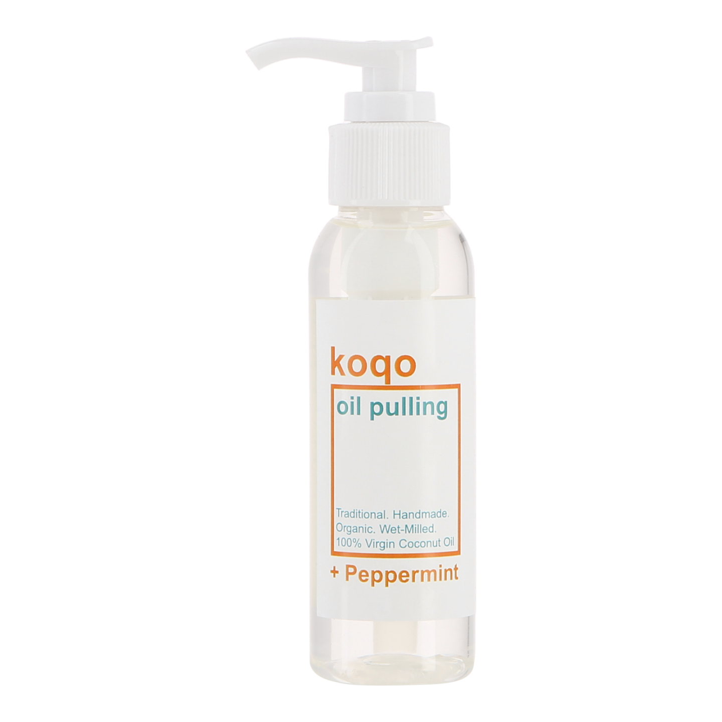 koqo Natural Mouthwash - Peppermint OIL PULLING (100ml pump)