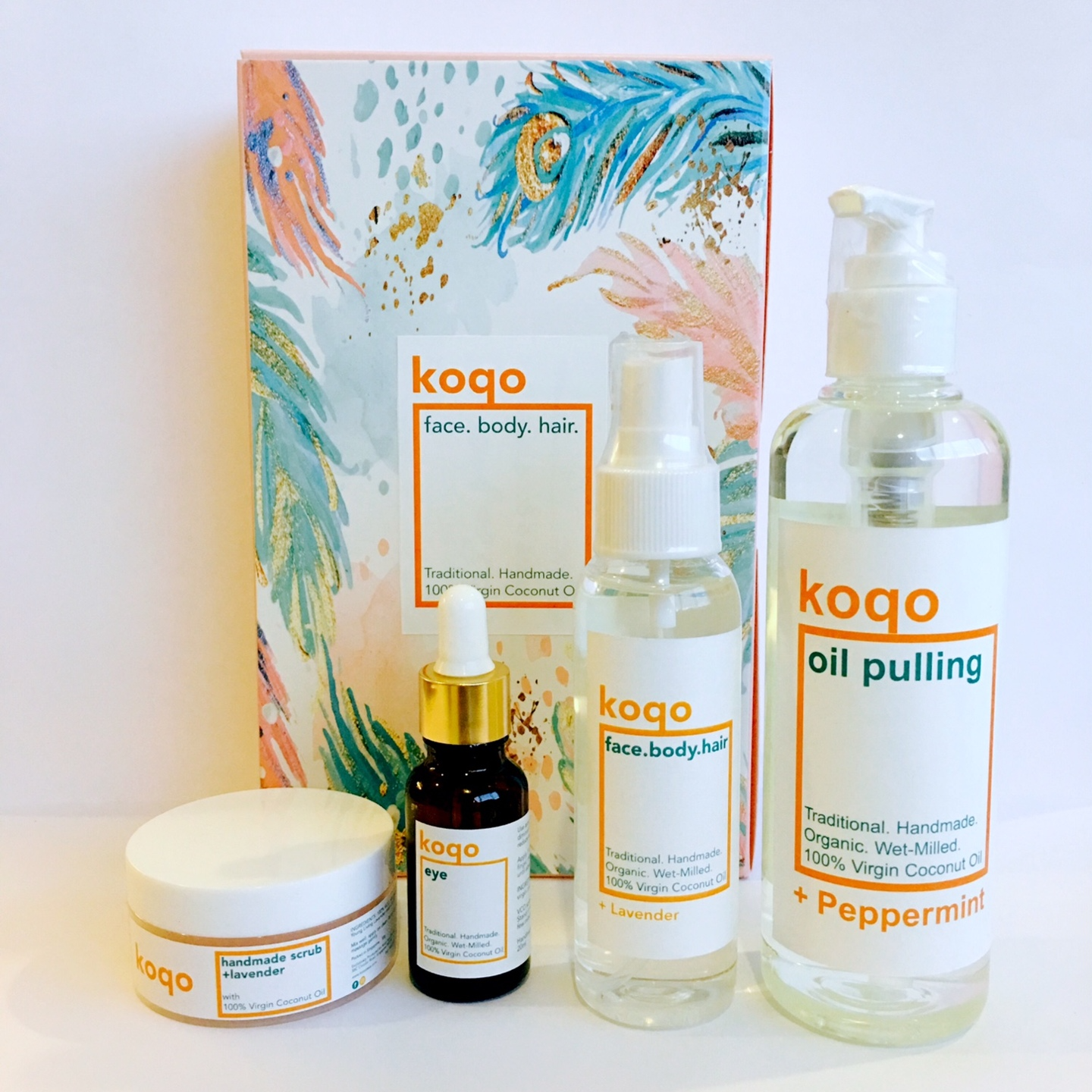 koqo Natural Mouthwash - Peppermint OIL PULLING (250ml pump)