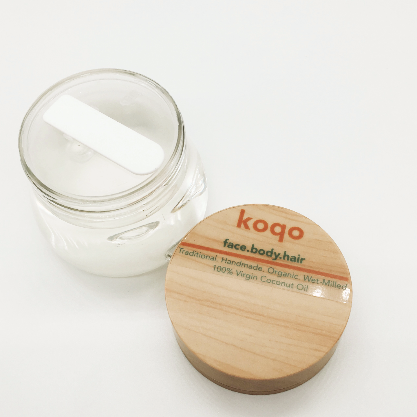 koqo Handmade & Wet-milled 100 Virgin Coconut oil 150g jar with scoop