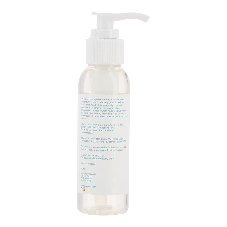 koqo Natural Mouthwash - Peppermint OIL PULLING (100ml pump)