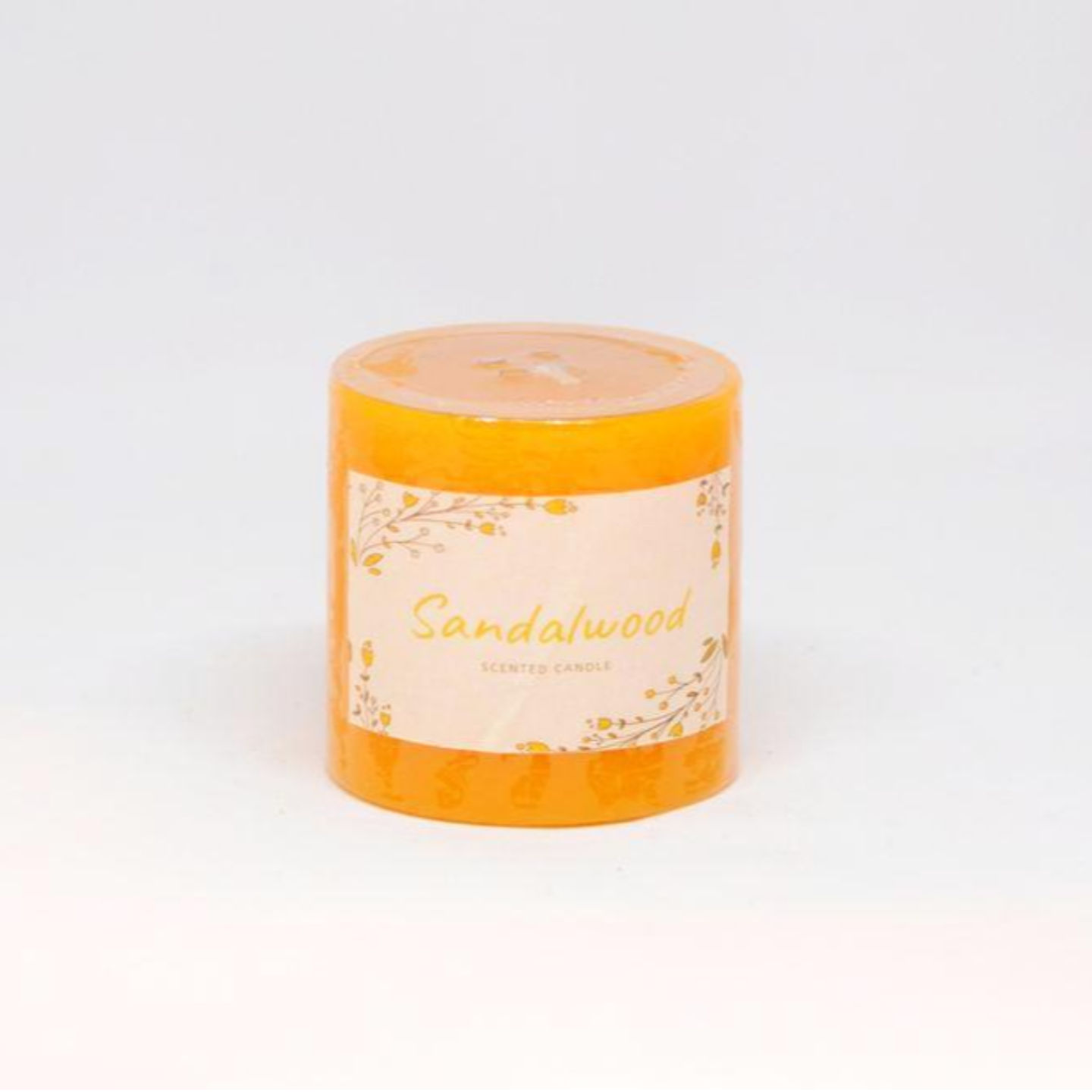 Scented Pillar Candle - Sandalwood