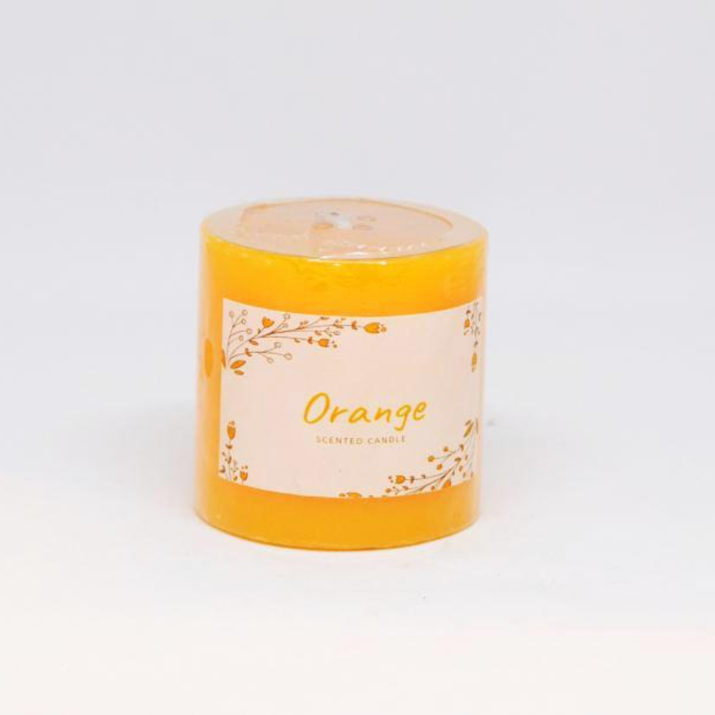Scented Pillar Candle - Orange