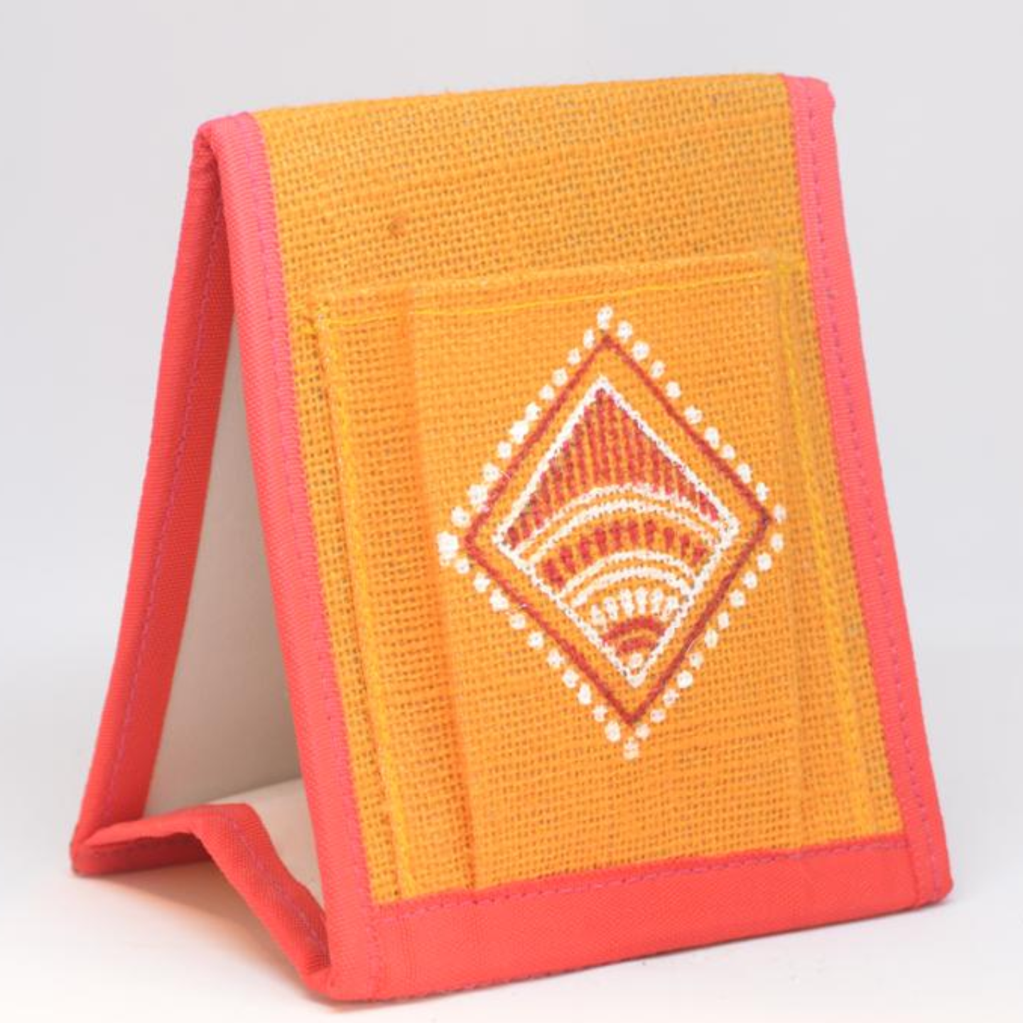 Aipan Art Hand painted Jute Pen Holder