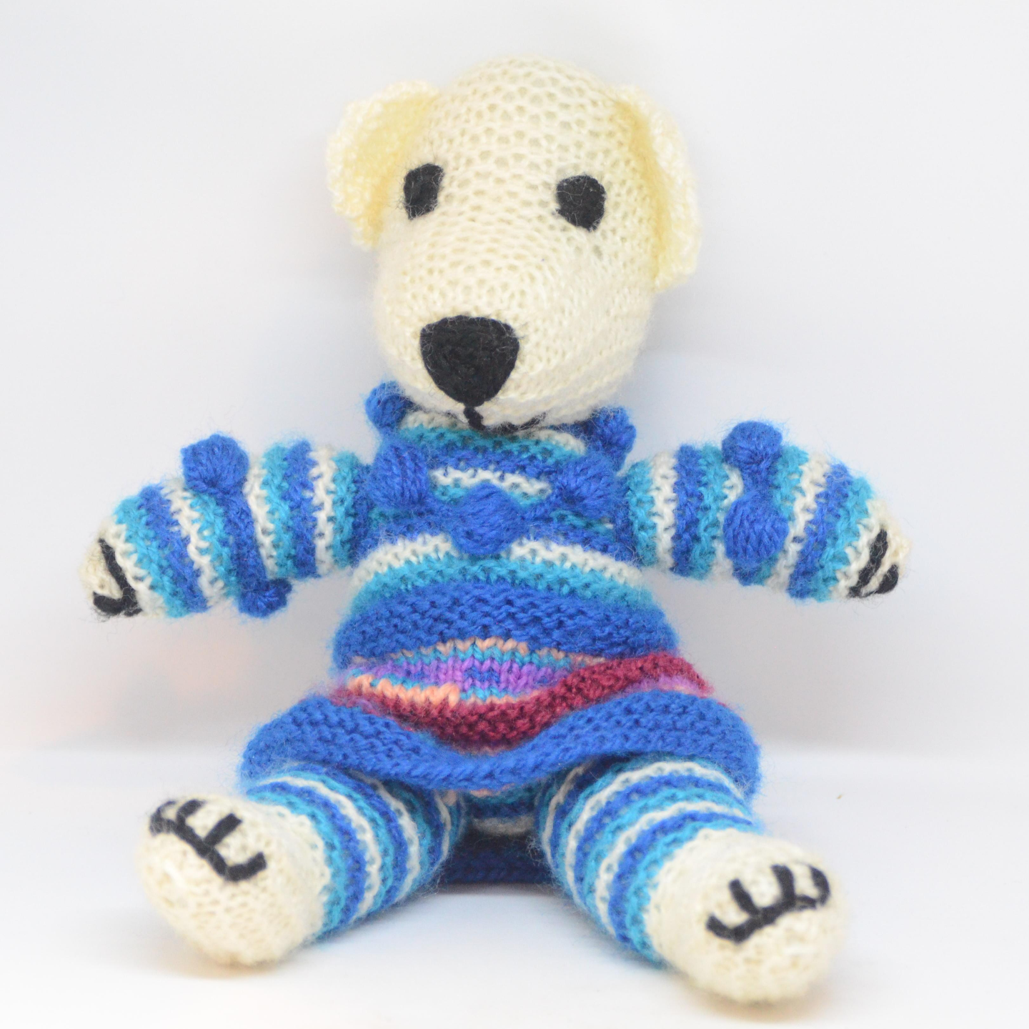 Hand Knitted Bear Medium