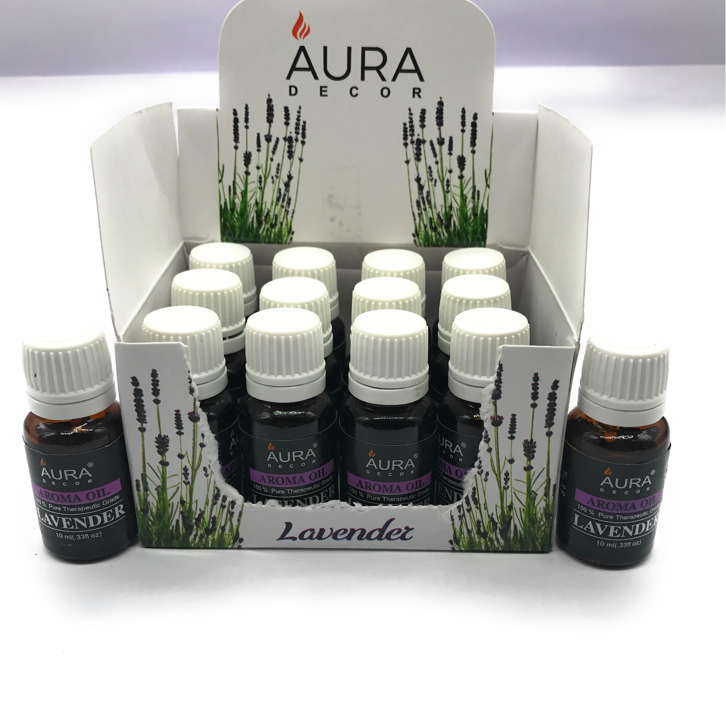AuraDecor Pack of 12 Aroma therapy Oils ( 10ml )