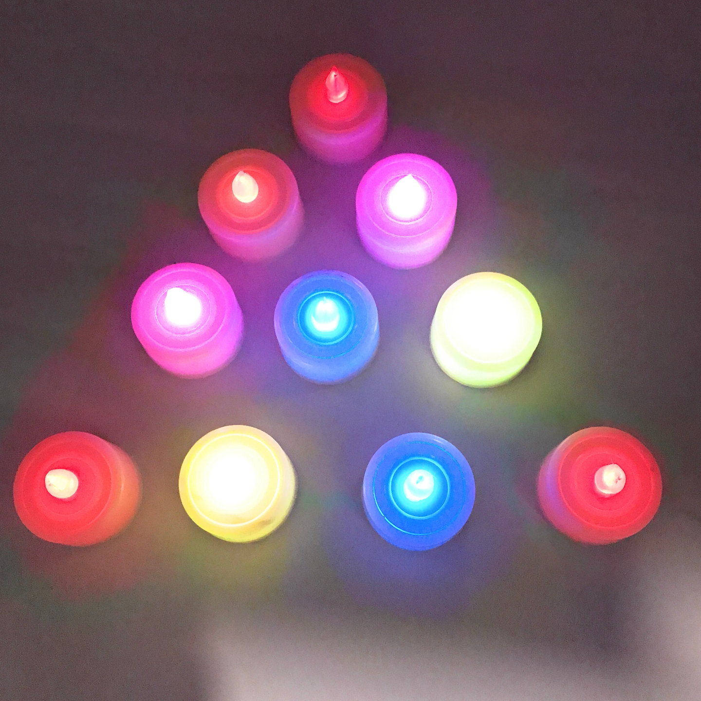 AuraDecor Multicolour LED Tealight Pack of 10 ( High Quality )