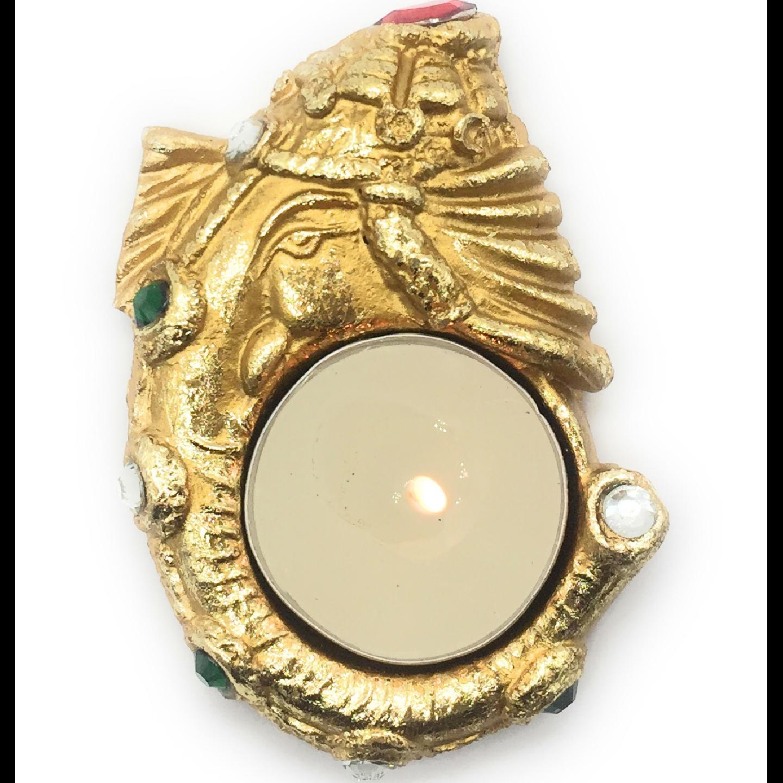 AuraDecor Ethnic Ganesha Tealight Holder with a Tealight Free