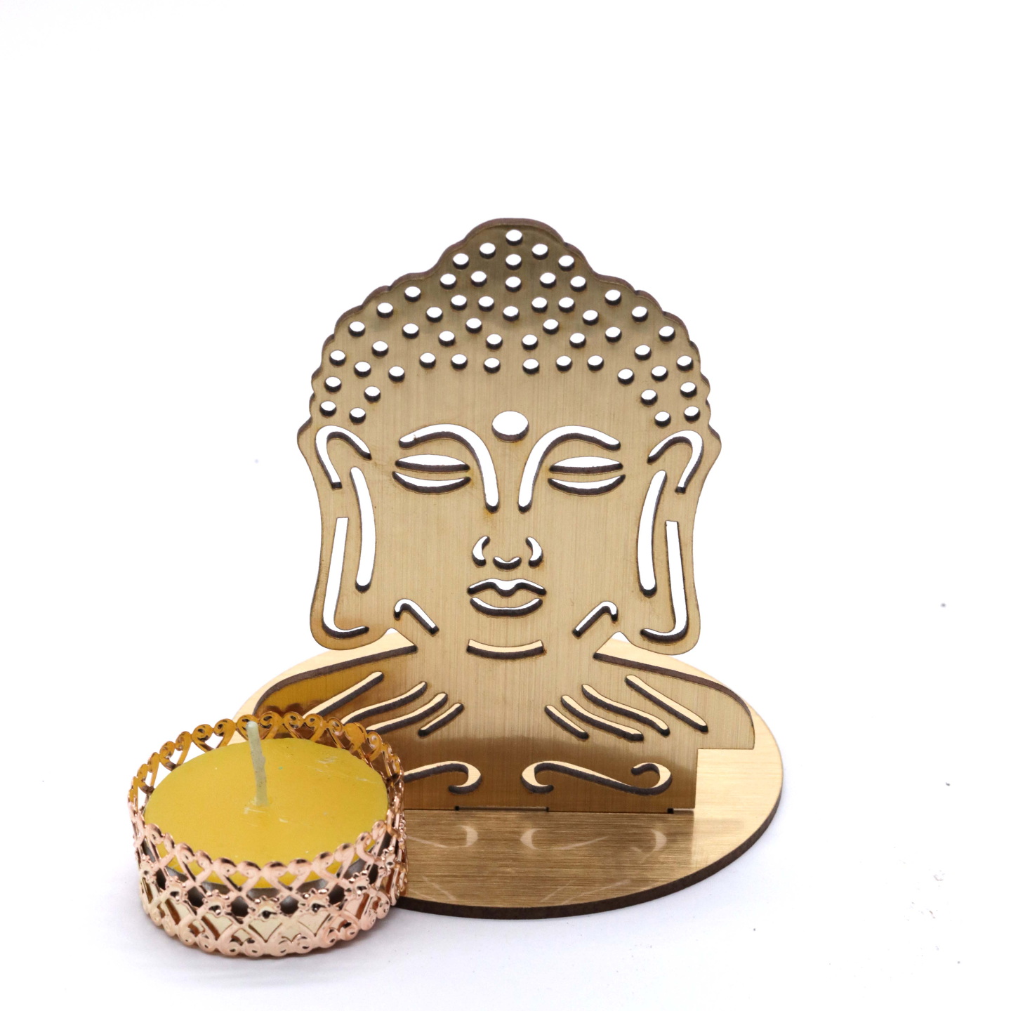AuraDecor Buddha Shadow Tealight Holder