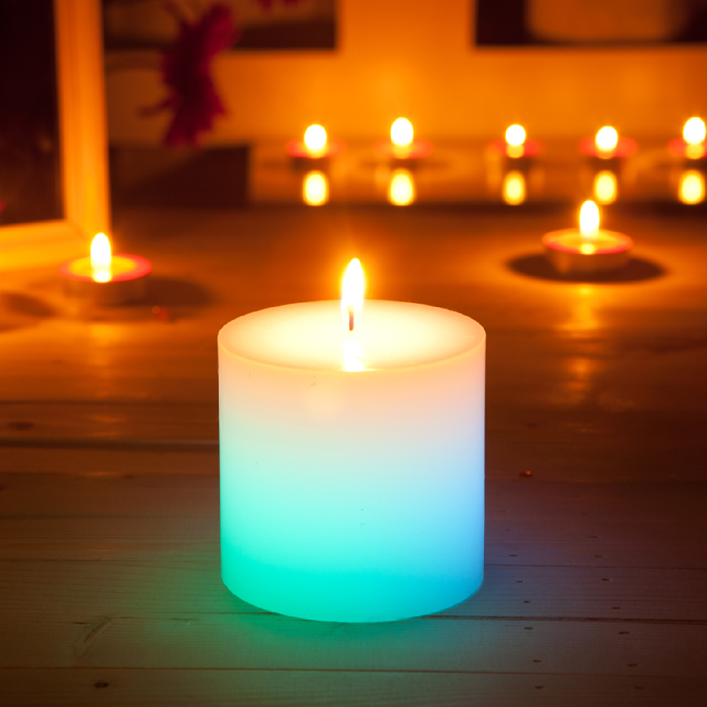 AuraDecor Colour Changing Pillar Candle ( LED Component )