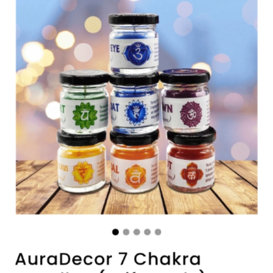 AuraDecor 7 Chakras Candle Jar in a Gift Set