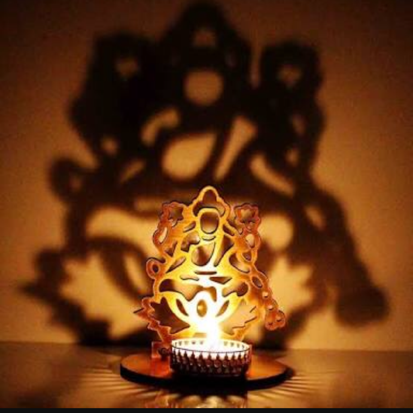 AuraDecor Shadow Laxmiji Tealight Holder