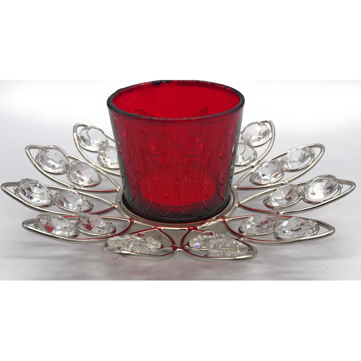 AuraDecor Lotus Shape Tealight Holder with a Tealight
