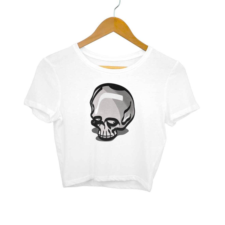 Funny Skull Crop Top