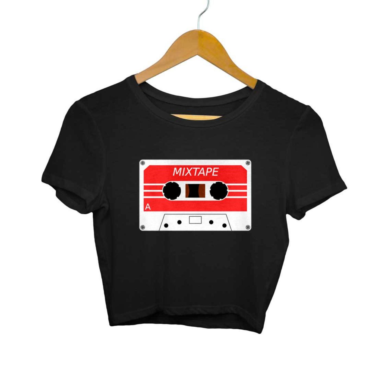 Mix Tape cassette Crop Top