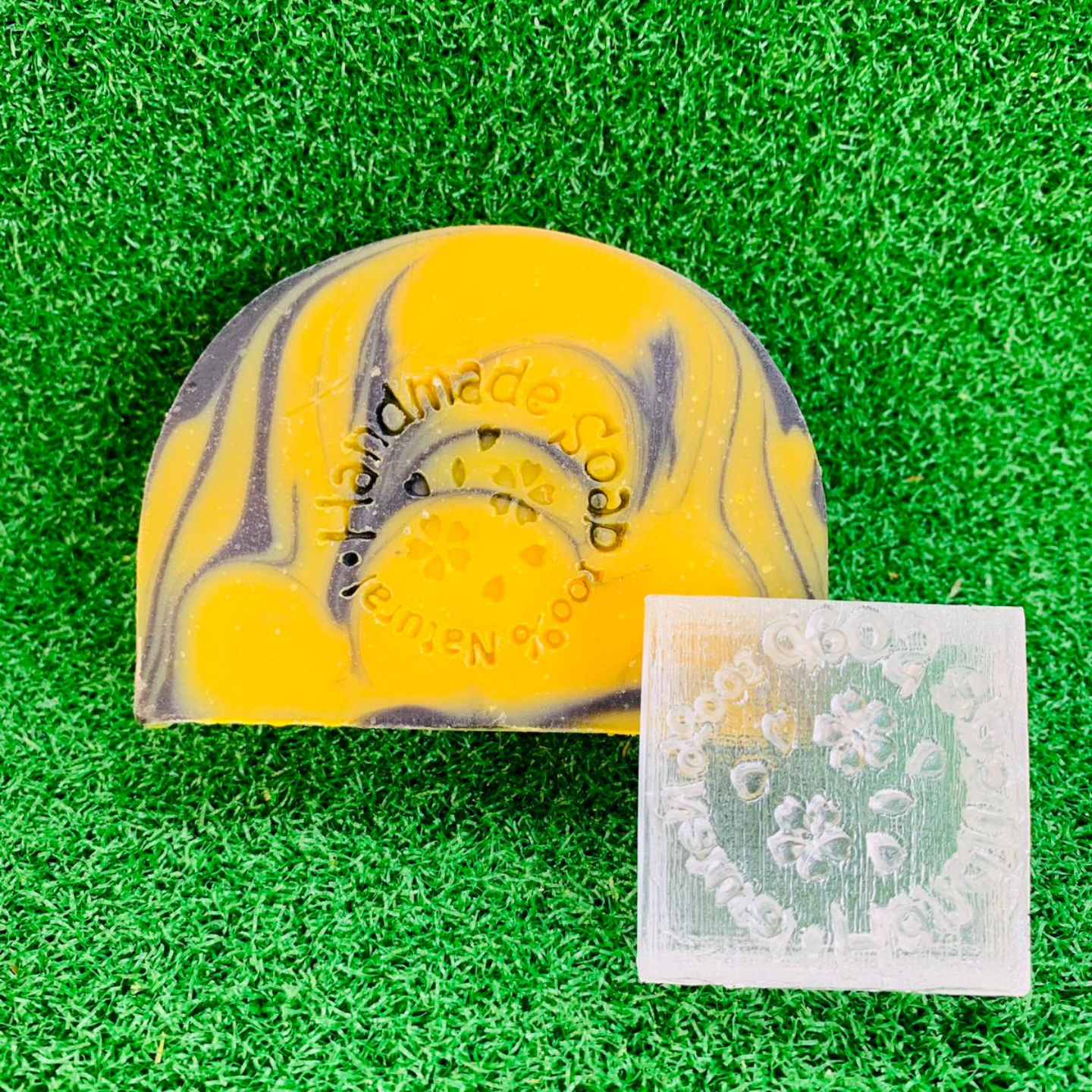 Handmade Soap 100% Natural (Clover) Acrylic Soap Stamp