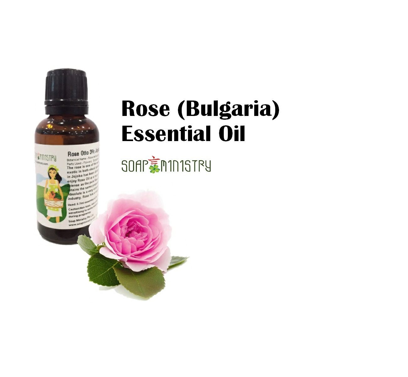 Rose Otto 3% Jojoba Essential Oil 30ml