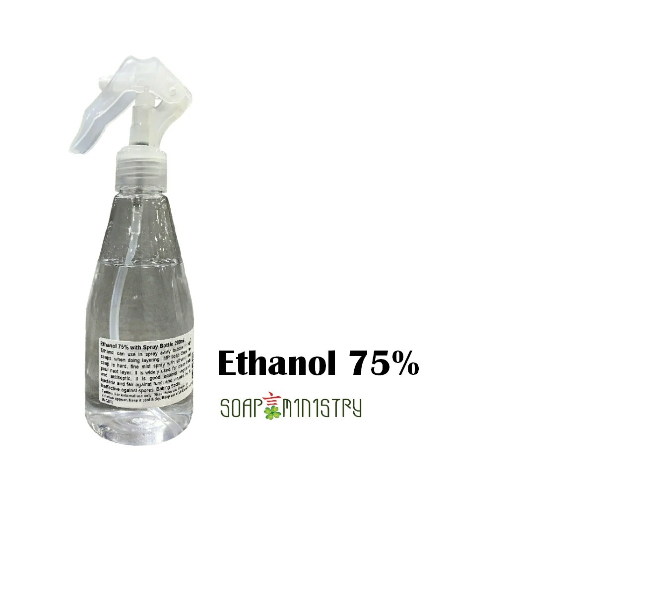 Ethanol 75% 200m with spray bottle
