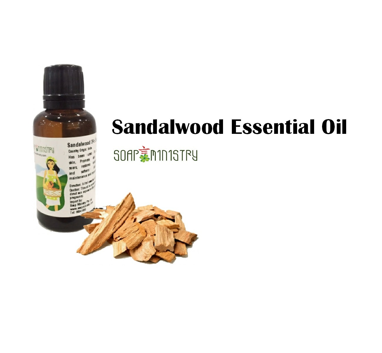 Sandalwood 3% (East India) Essential Oil 30ml