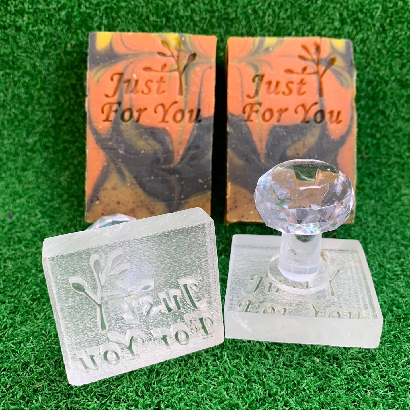 Just For You Acrylic Soap Stamp