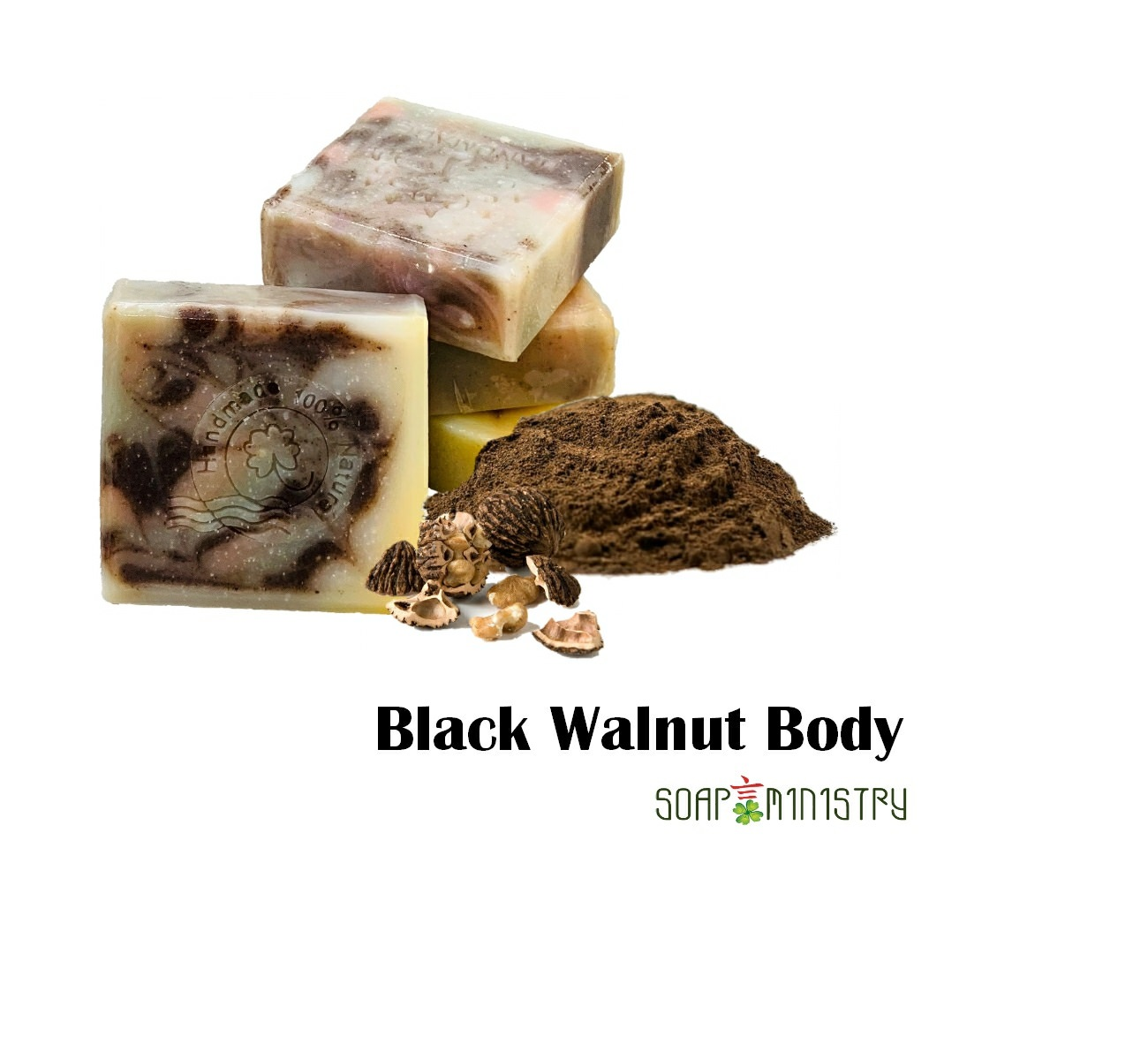 Black Walnut Body Scrub Soap