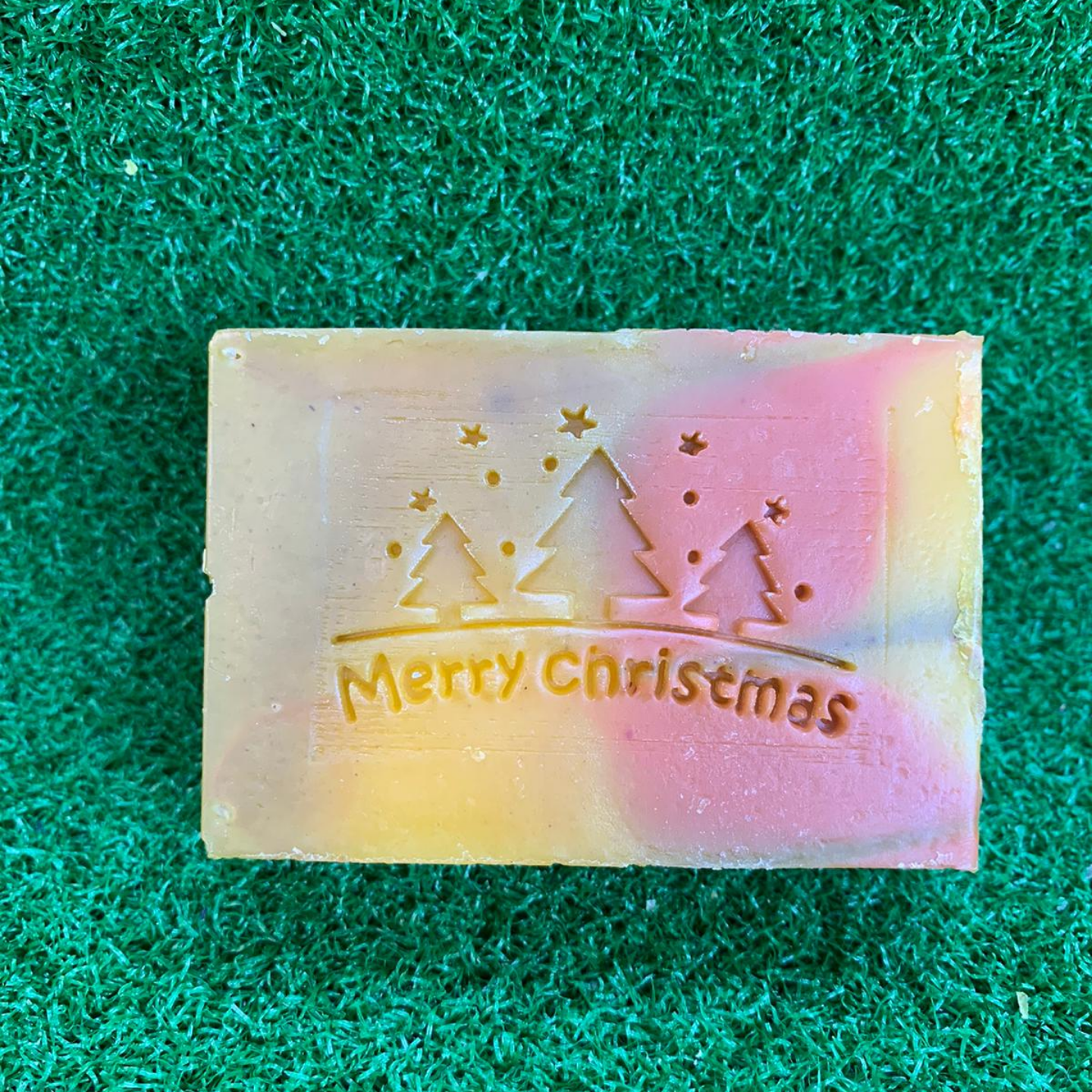 Merry Christmas Trees and Stars Acrylic Soap Stamp