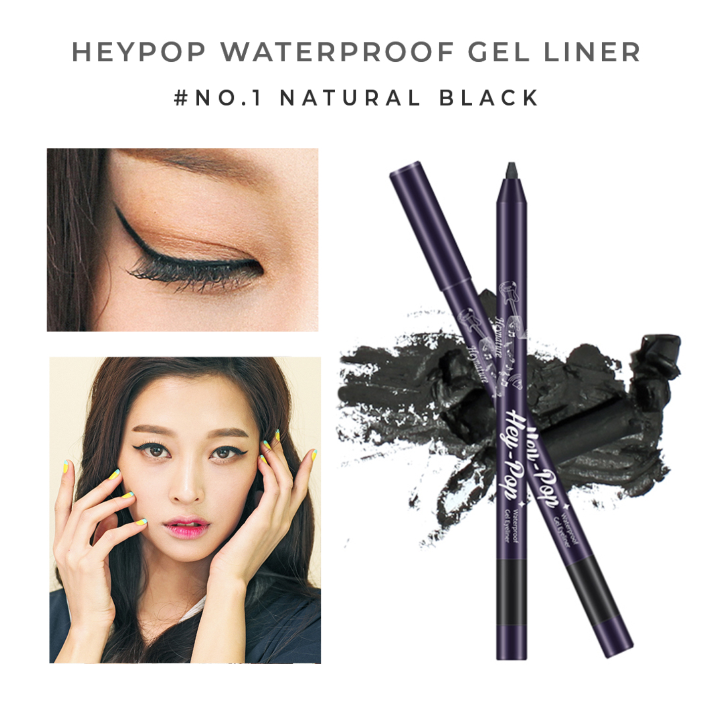 Heynature Hey-Pop Waterproof Gel Eyeliner No.1 Natural Black