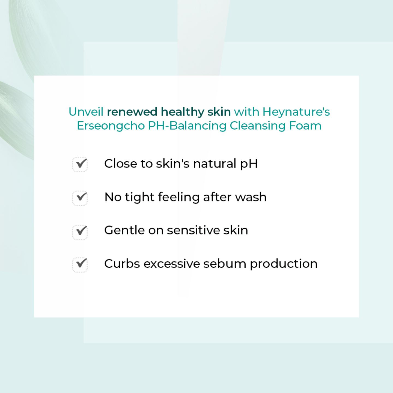 Heynature Erseongcho pH-Balancing Cleansing Foam