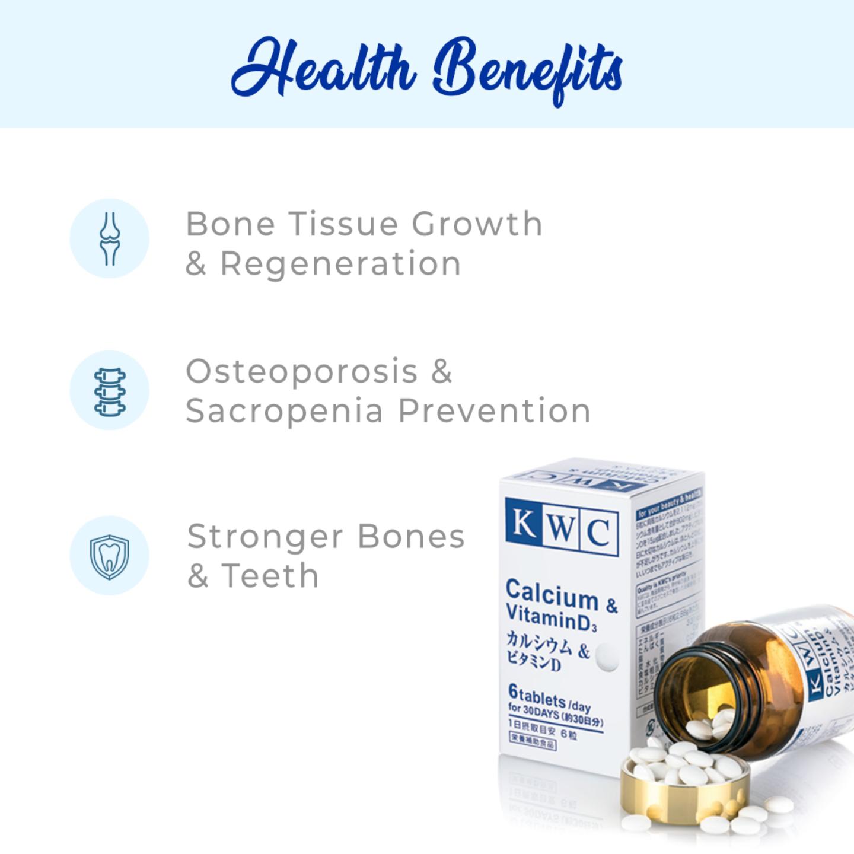KWC Calcium & Vitamin D3 - 180 tablets
