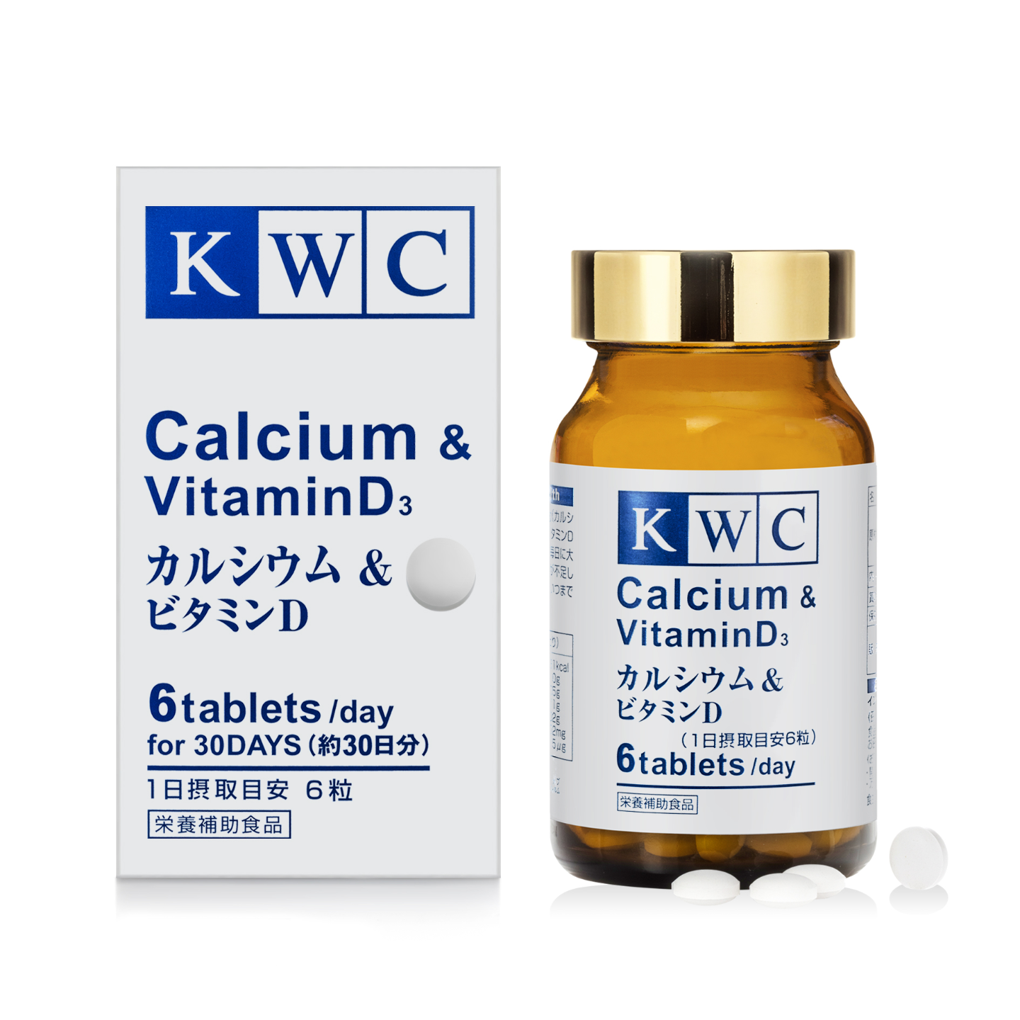 KWC Calcium & Vitamin D3 - 180 tablets