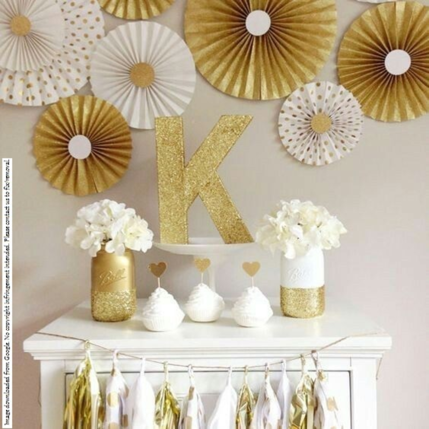 Gold & White Party Decor Combo