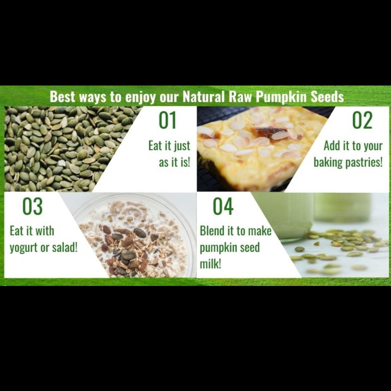 Natural Raw Pumpkin Seeds [500g] x2 - Value Bundle 1+1