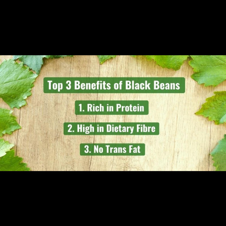 Dry-Roasted Black Beans [500g] - Value Pack