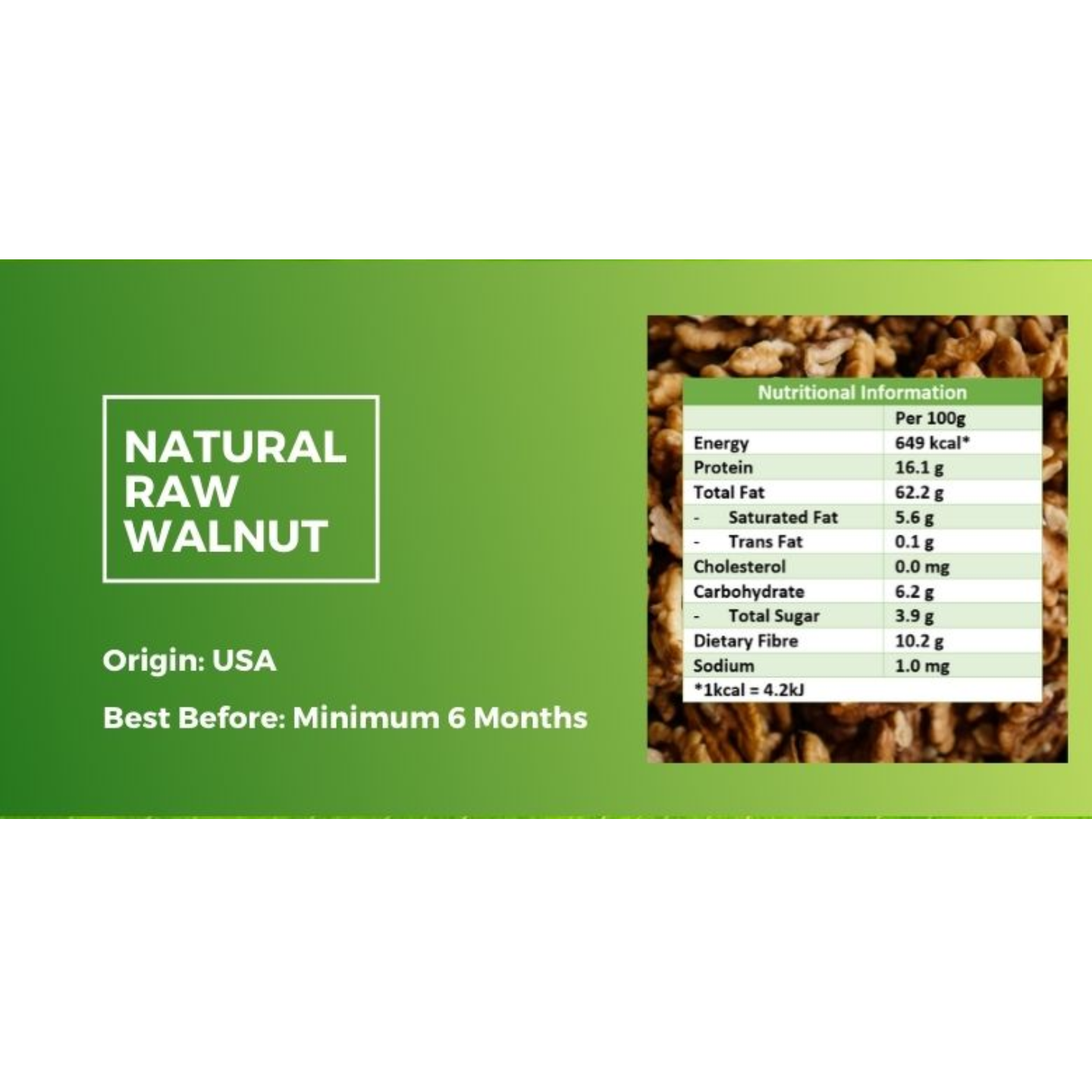 Natural Raw Walnut [500g] - Value Pack
