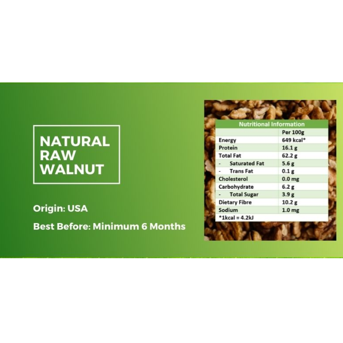 Natural Raw Walnut [500g] x2 - Value Bundle 1+1