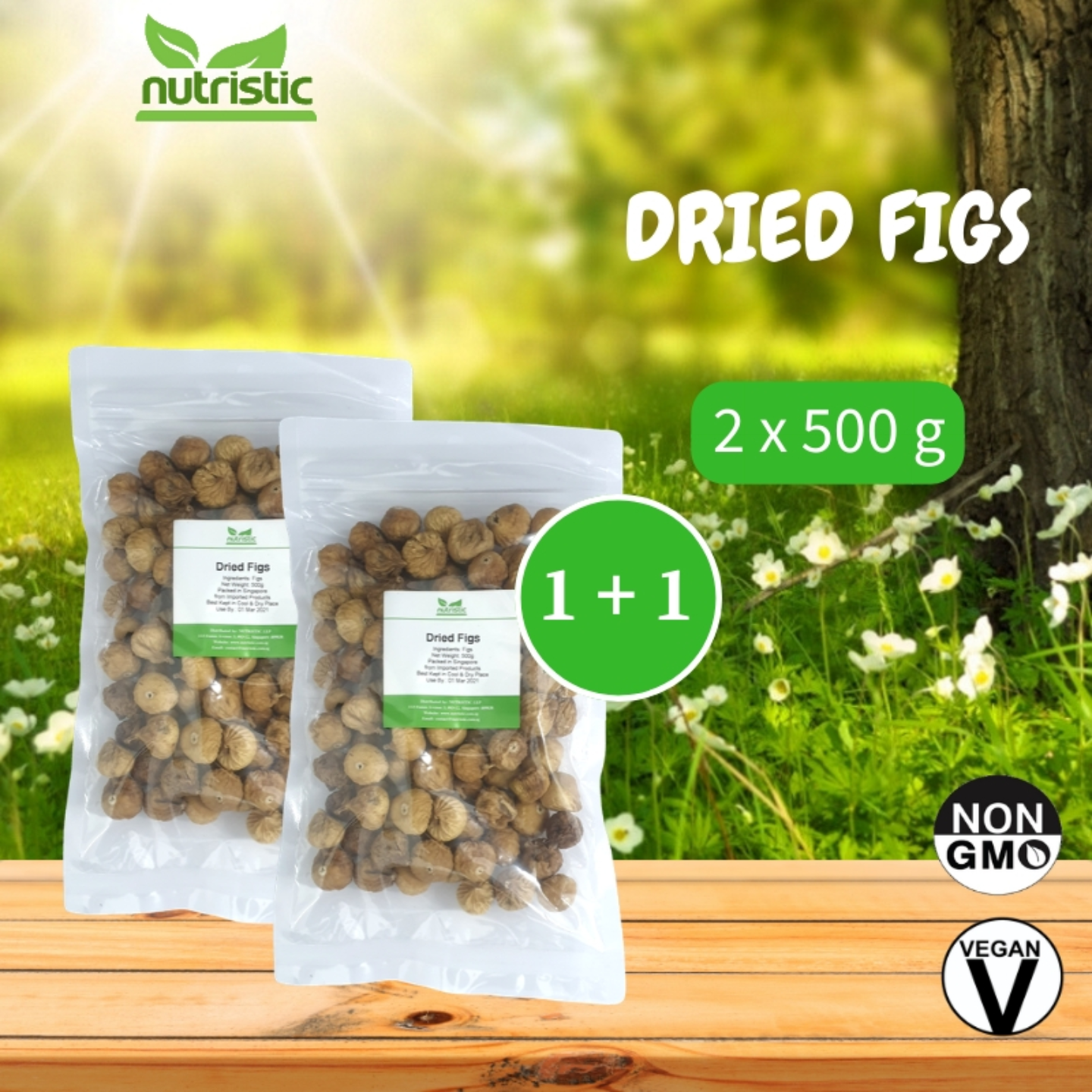 Dried Figs 500g x2 - Value Bundle 1+1