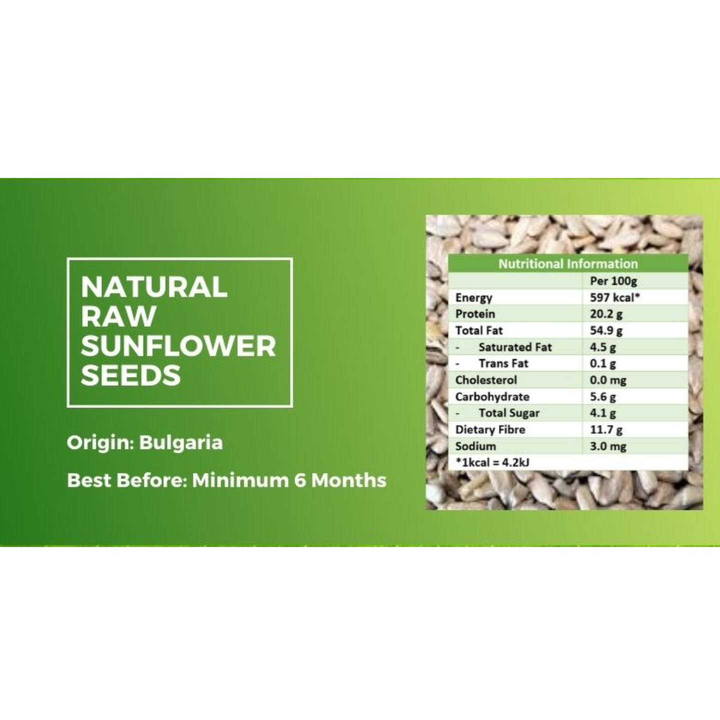 Natural Raw Sunflower Seeds [500g] - Value Pack