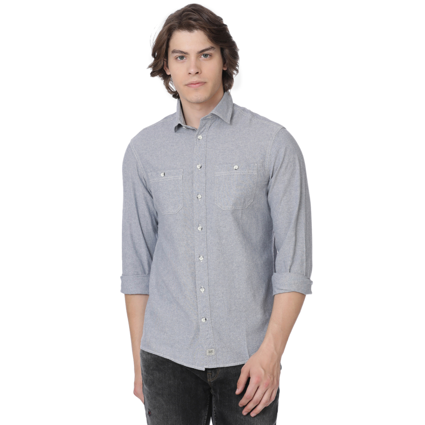 Bar Harbour Light Blue Chambray Casual Shirt
