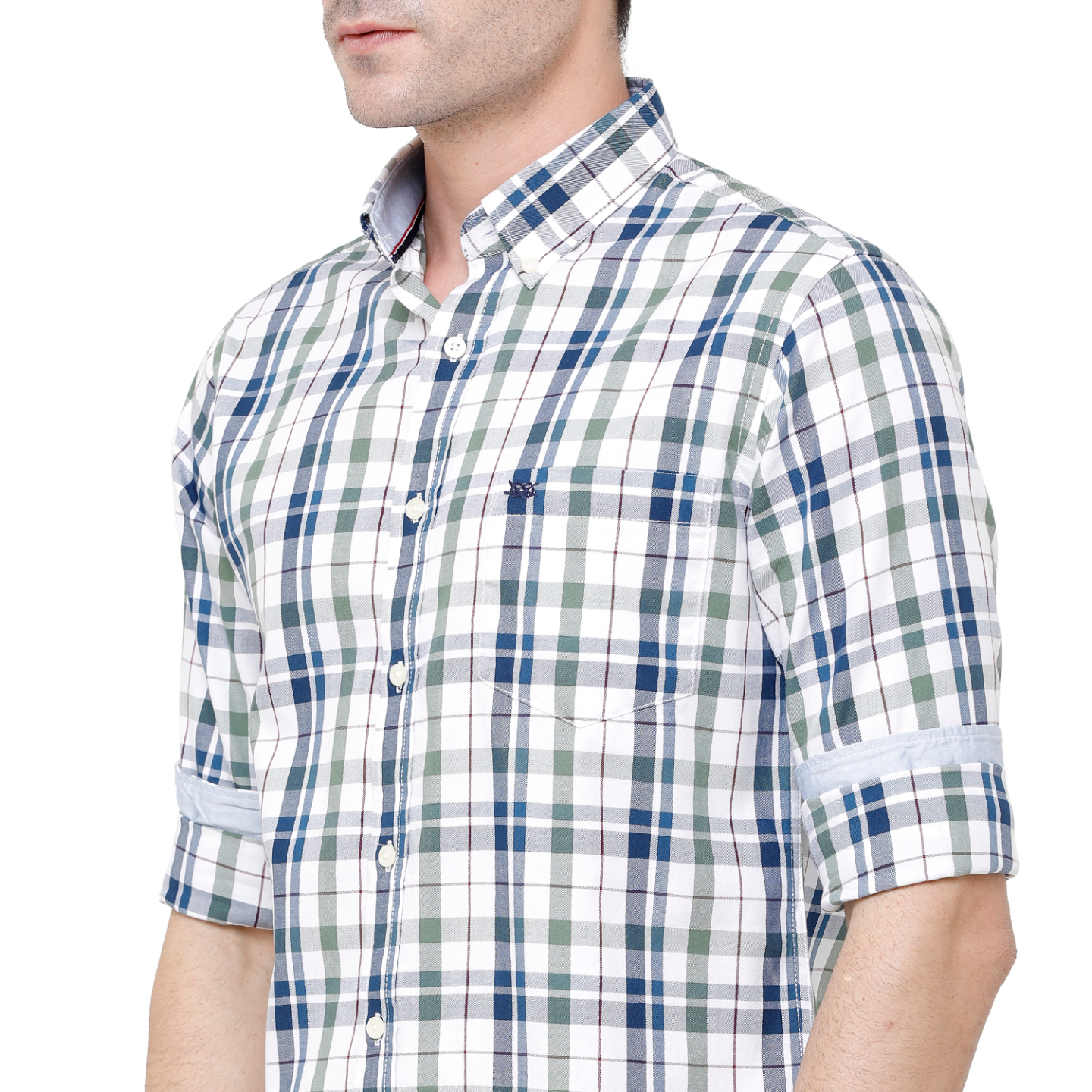 Double Two Mens Long Sleeves 100 Cotton Casual Shirt