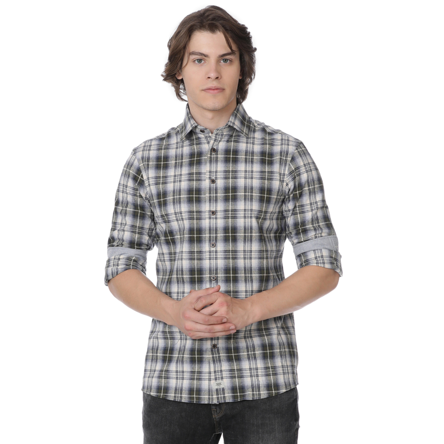 Bar Harbour Mens Woodland Check Casual Shirt
