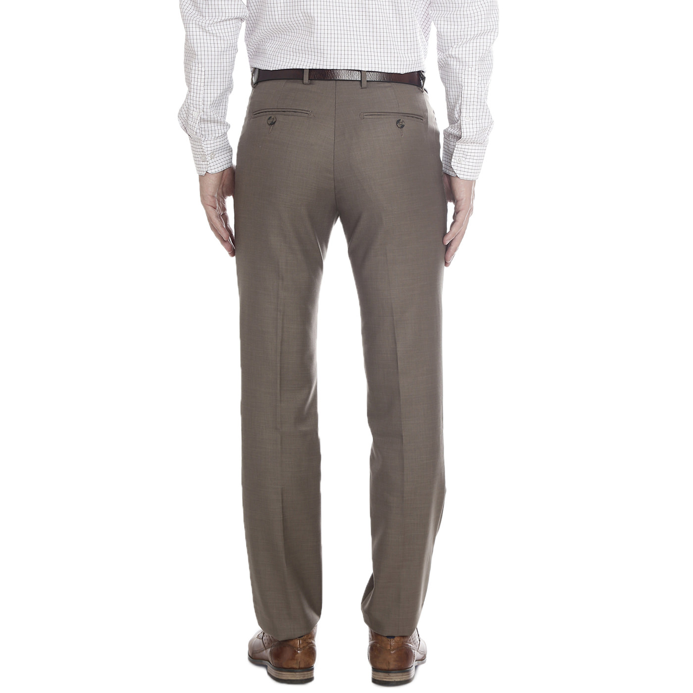 Double Two Slim Fit Men Brown Trousers