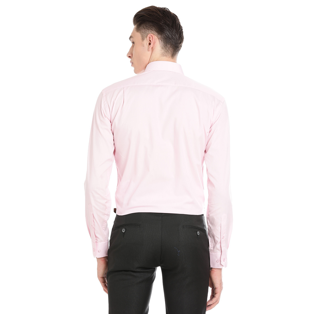 Double Two Men Formal Pink Cotton Shirt