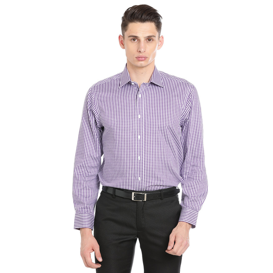 Paradigm Purple Color Formal Pure Cotton Non-Iron Shirt
