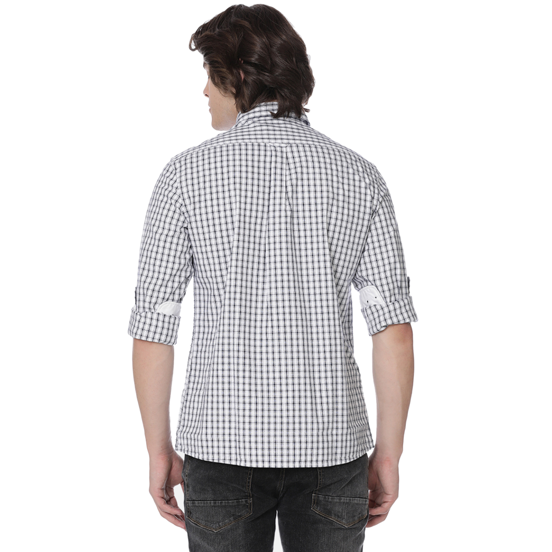 Bar Harbour Grey & White Eddie Oxford Check Casual Shirt