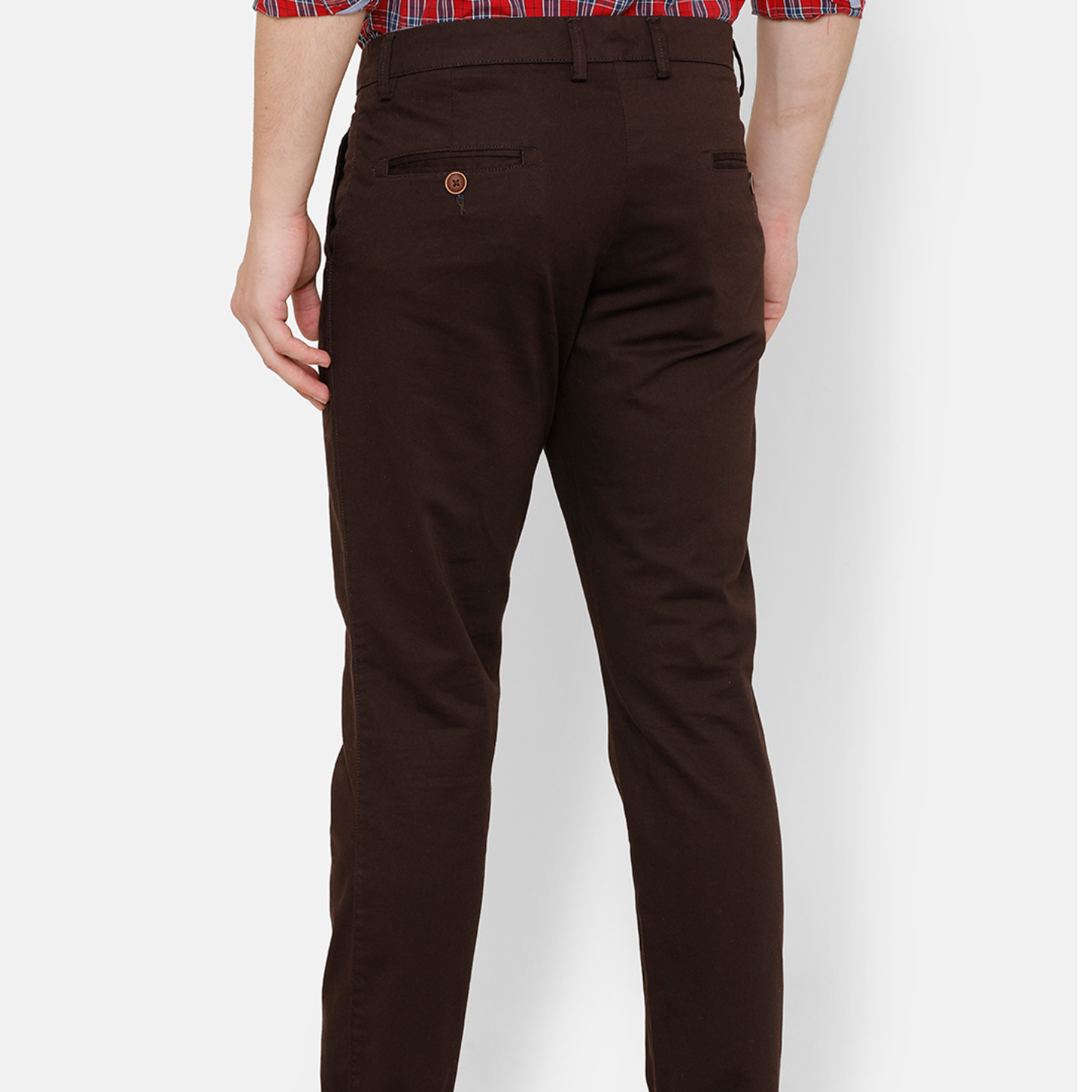 Bar Harbour Men Brown Slim Fit Solid Chino Trousers