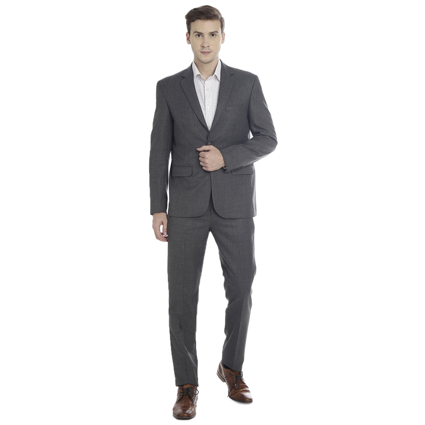 Double TWO Charcoal Slim Fit Men's Suit