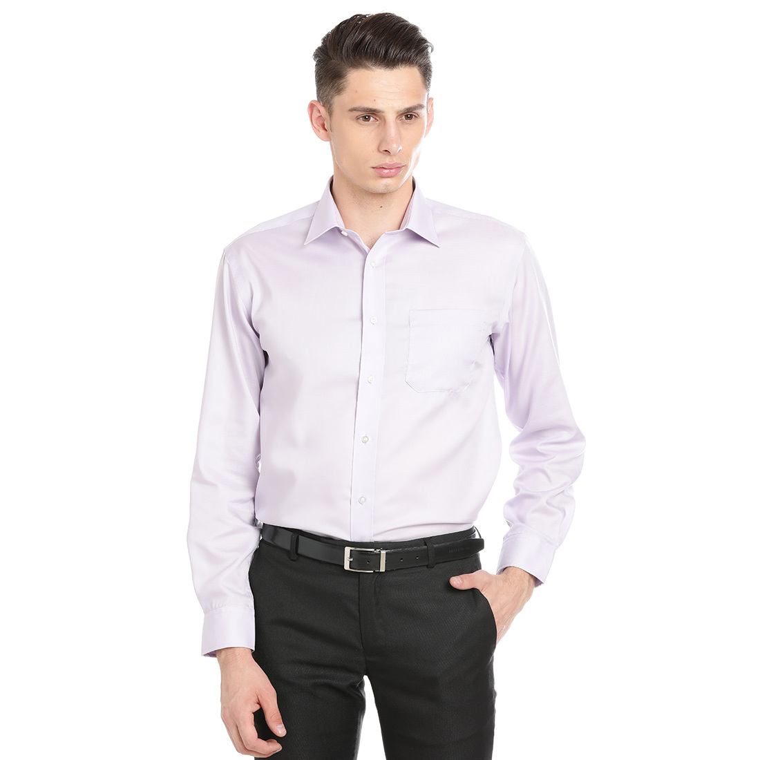 Paradigm Light Purple Color Formal Pure Cotton Non-Iron Shirt